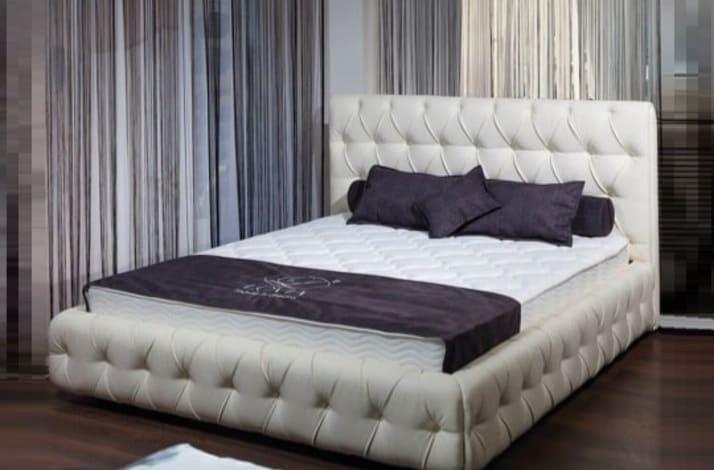 Кровать из экокожи КН-101