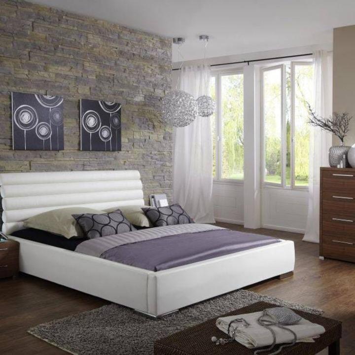 Кровать из экокожи КН-16