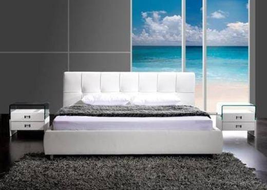 Кровать из экокожи КН-19