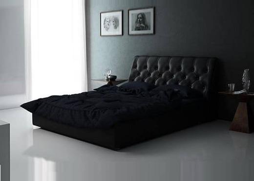 Кровать из экокожи КН-337