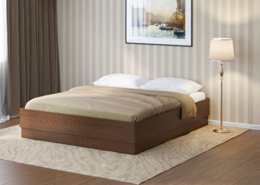 Кровать из дерева без спинки КБС-2