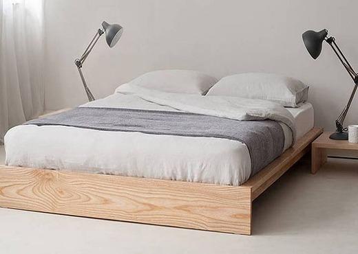 Кровать из массива без спинки КБС-3