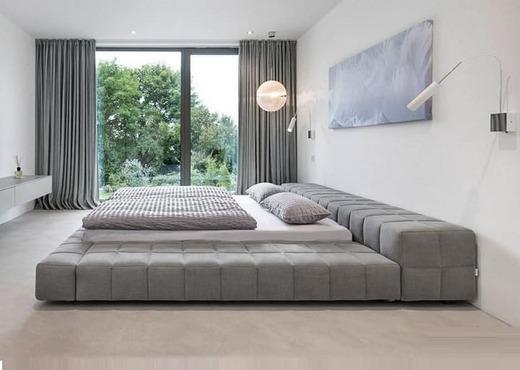 Кровать без спинки из экокожи КБС-8