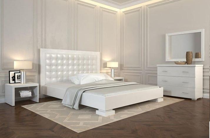 Кровать из экокожи КН-316