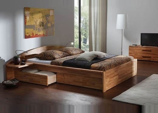 Кровать из массива КМ 213