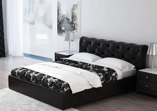 Кровать Николетти с мягким изголовьем КИ-66
