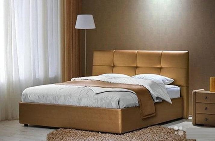 Кровать из экокожи КН-39