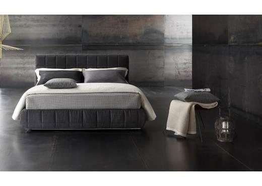 Кровать из текстиля и кожи КМ-16
