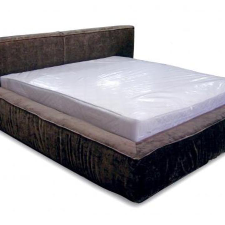 Кровать из текстиля и кожи КМ-8