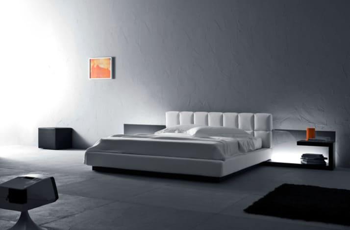 Кровать из текстиля и кожи КМ-9