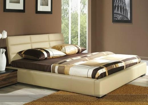 Кровать из текстиля и кожи КМ-10