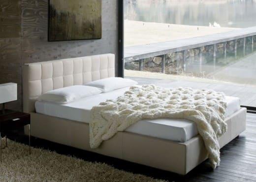 Кровать из текстиля и кожи КМ-6