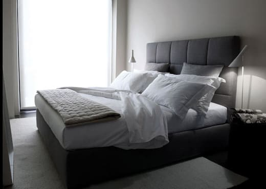 Кровать из экокожи КН-68