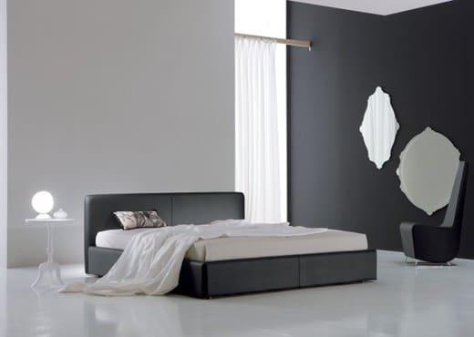 Кровать из текстиля и кожи КМ-43