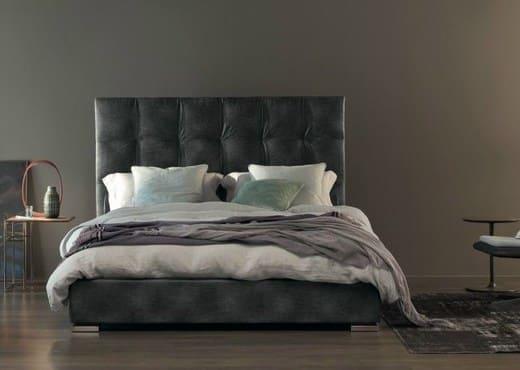 Кровать из экокожи КН-46