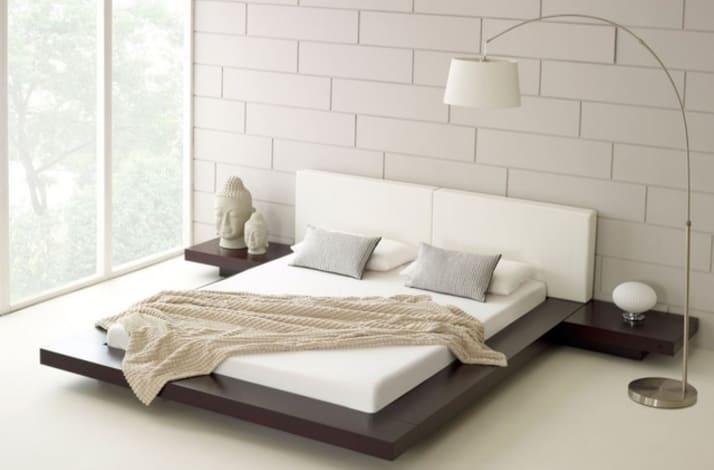 Кровать из текстиля и кожи КМ-24