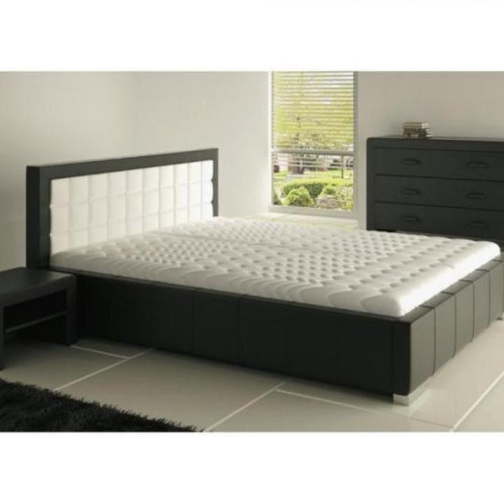 Кровать из текстиля и кожи КМ-30