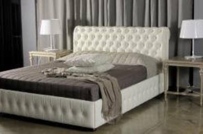 Кровать из экокожи КН-58