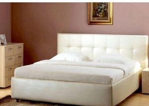 Кровать из текстиля и кожи КМ-34