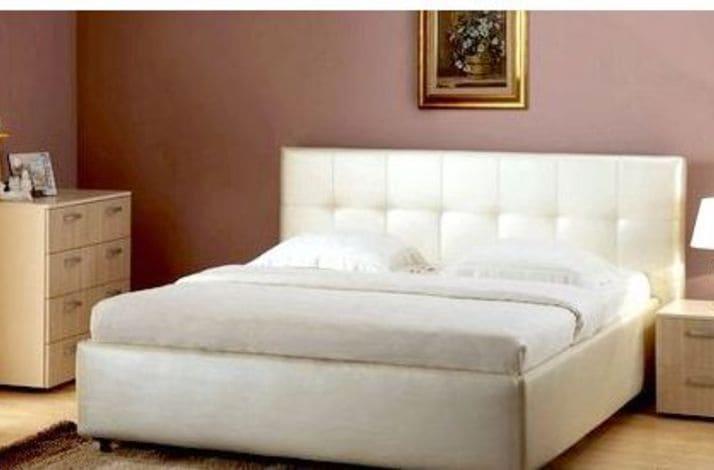 Кровать из экокожи КН-60