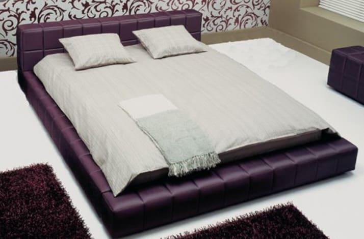 Кровать из текстиля и кожи КМ-35