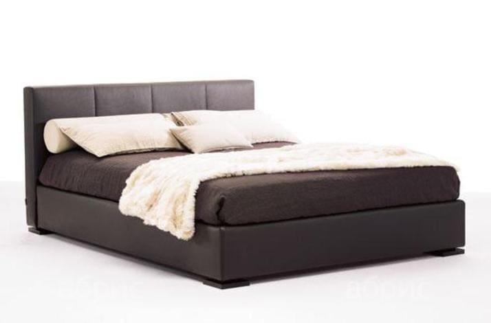Кровать из текстиля и кожи КМ-39