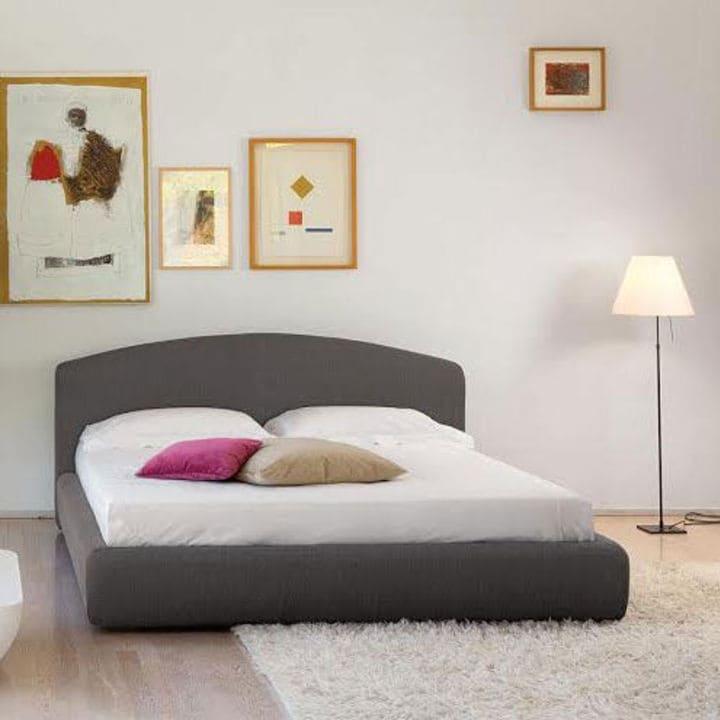 Кровать из текстиля и кожи КМ-40