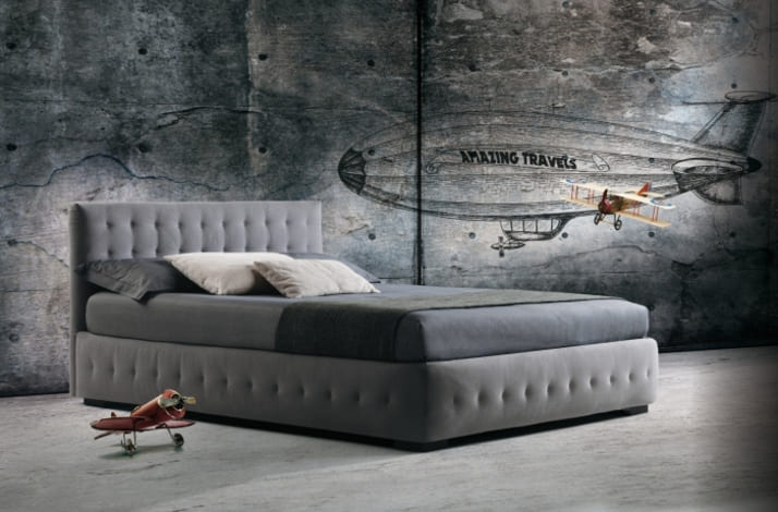 Кровать из экокожи КН-69
