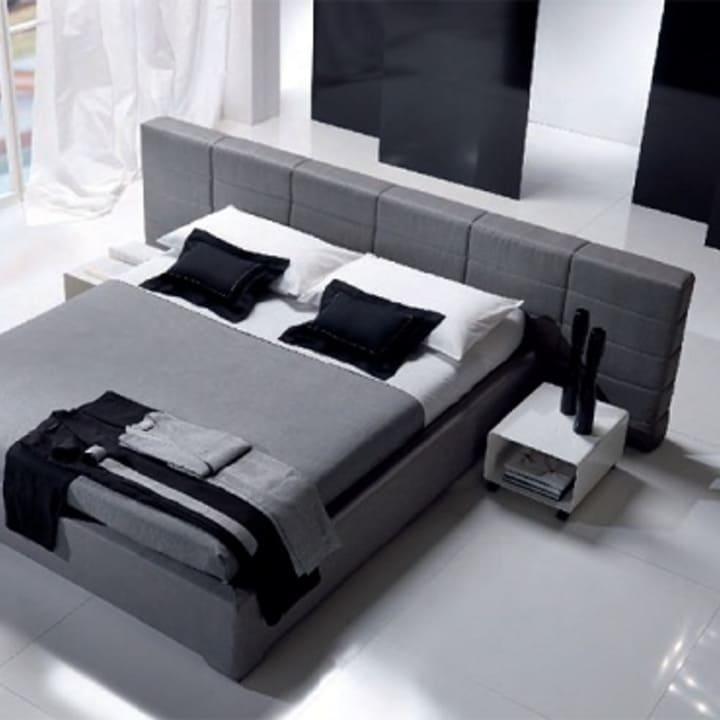 Кровать из текстиля и кожи КМ-45