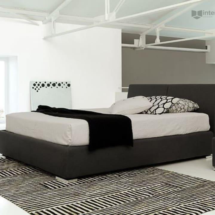 Кровать из текстиля и кожи КМ-47