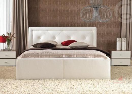 Кровать из текстиля и кожи КМ-49