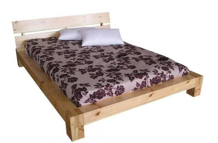 Двуспальная кровать из бруса своими руками