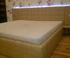 Кровать из экокожи КН-91