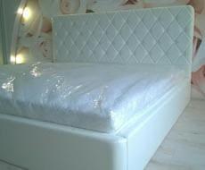 Кровать из экокожи КН-50