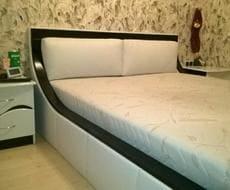 Кровать из экокожи КН-84